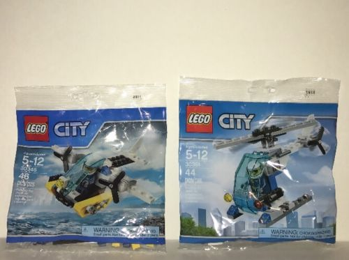 Lego City Poly Bag  30346 Prison island helicopter  & 30351 Police Helicopter