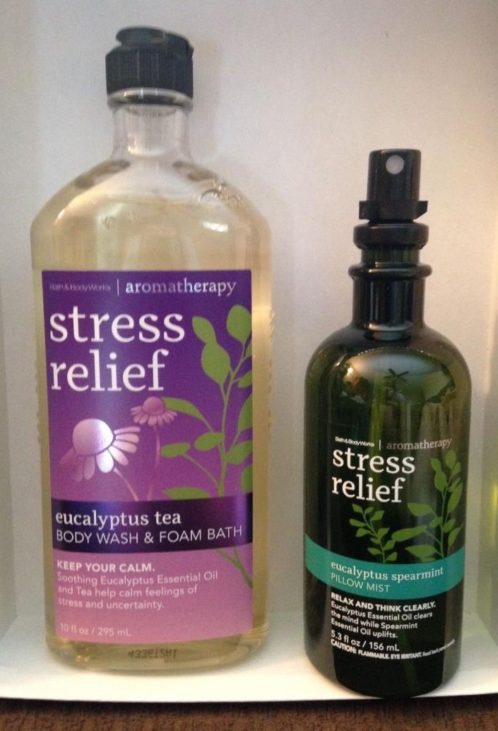 Bath & Body Works Aromatherapy -Stress Relief Body wash & Pillow Spray BRAND NEW