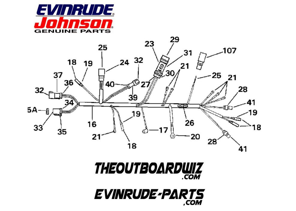 EVINRUDE JOHNSON GENUINE OMC OUTBOARD MOTOR PART 586022 CABLE AY 125 130 135HP