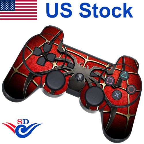 Decal Sticker Skin for Sony PS3 Playstation 3 Controller Widow Maker Black