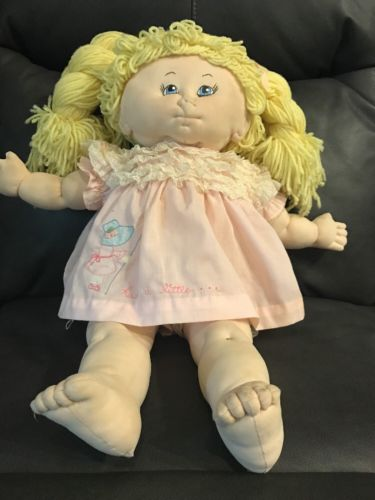 Vintage Little People Soft Sculpture Doll - Original Cabbage Patch With Pattern