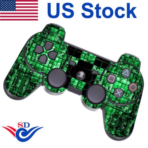Decal Sticker Cover Skin for Sony PS3 Playstation 3 Controller Green Digicamo