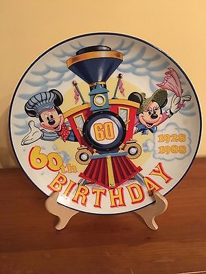 Disney Mickey Mouse and Minnie Mouse 60th Birthday Collectible Plate