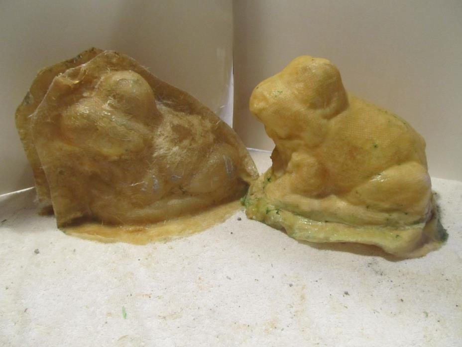 used concrete mold latex fiberglass frog