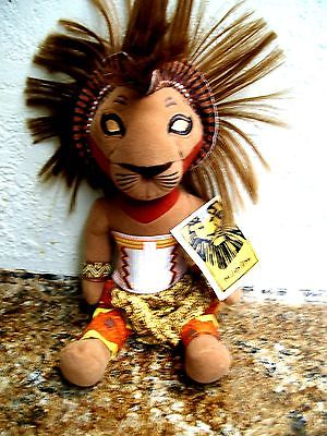 DISNEY STUFFED LION KING WITH  COSTUME BASED ON ORIGINAL