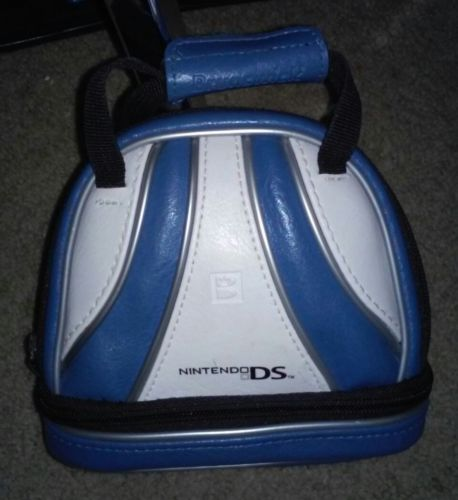 Blue And White Brunswick Bowling Bag Style Nintendo DS / Dsi Carrying Case