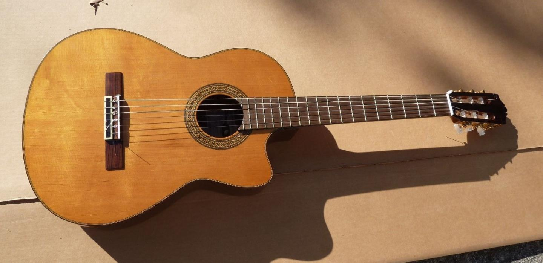 Yamaha CGX171CCA Classical Acoustic Elec Guitar Nylon Solid Cedar Top Rosewood