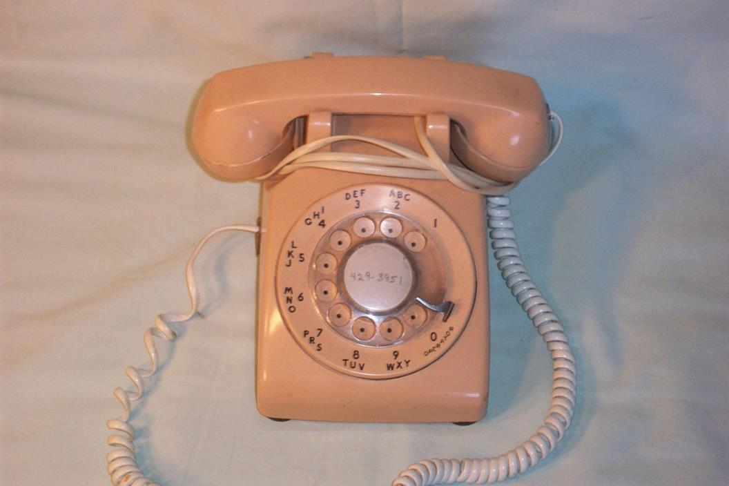 NORTHWESTERN BELL DESK PHONE,WORKING CONDITION,PINK-ISH