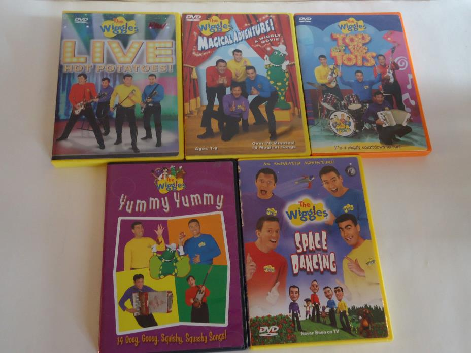 THE WIGGLES Dvd Lot 5 Set Tv Show Movie Character Live MAGICAL ADVENTURE