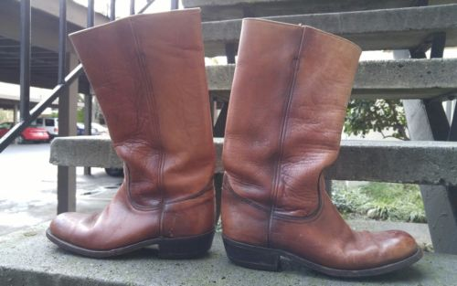 """True """"vintage"""" Frye boots made in the USA 10D"""