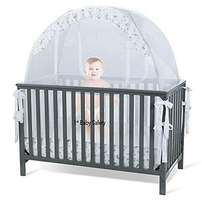 Baby Crib Netting Crib Tent Safety Net Pop Up Canopy Cover - Never Recalled