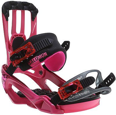New 2016 Salomon Rhythm Snowboard Bindings Small Pink