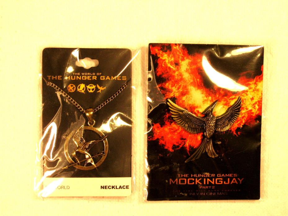 Pair (2) HUNGER GAMES Promo Jewelry Items Pendant and Necklace MIP