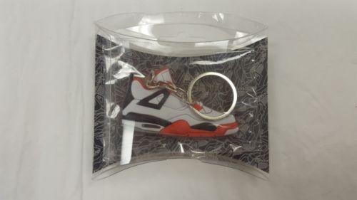Nike Air Jordan IV Retro Deluxe Soft Plastic SNEAKER Key chain