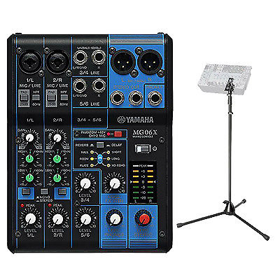 YAMAHA MG06X portable mixer With Yamaha M770MIXER Mixer Stand