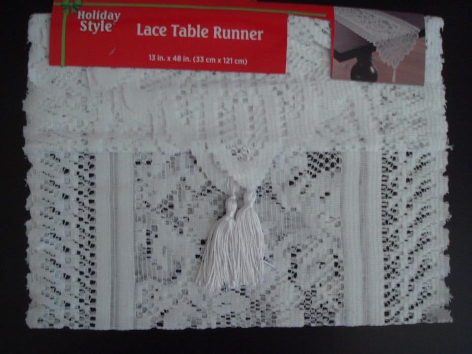 White Lace Table Runner 13