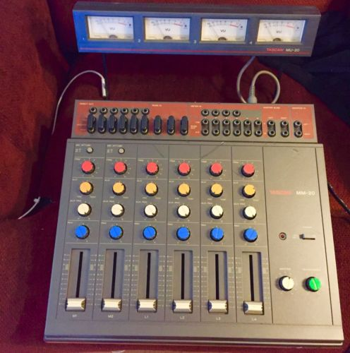 Tascam MM-20 Mixing System with VU Meter