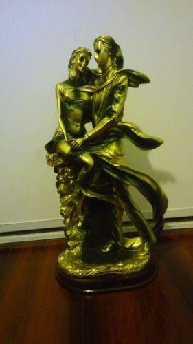Antique Dancing Man & Woman Statue/Figurine