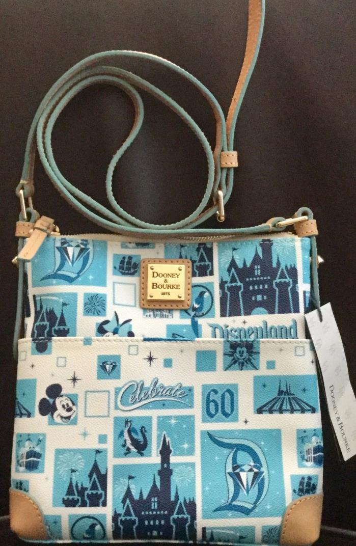 DISNEYLAND 60th Diamond Anniversary Dooney & Bourke CROSSBODY Bag Purse NWT