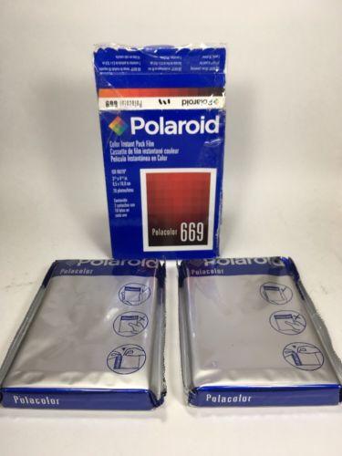 Polaroid Polacolor 669 Double Pack 20 Photos Instant Film Exp 08/03 (New)