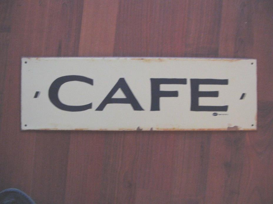 VTG METAL ADVERTISING CAFE SIGN MAN CAVE SHE SHED DEN DECOR 18