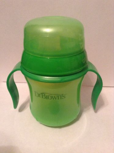 Dr. Brown's GREEN Soft Spout Sippy Cup 6M+ Spill Proof ~ USED