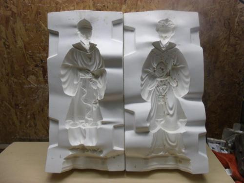 USED CERAMIC MOLD HOLLAND H463 & H464 FIGURINES 16-1/2