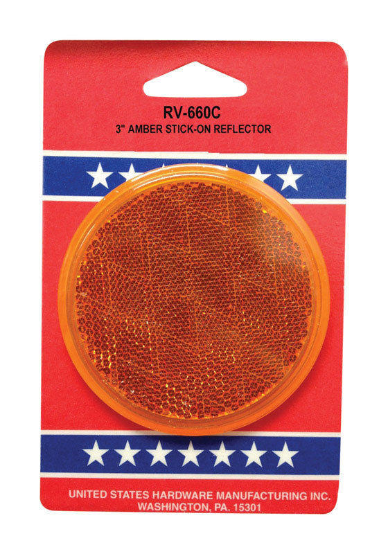 NEW! US HARDWARE RV Amber Reflector RV-660C