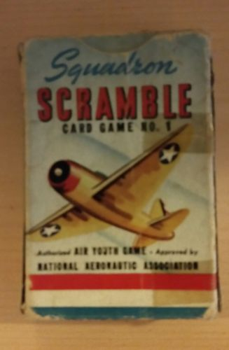 SQUADRON SCRAMBLE 1 - 1942 WHITMAN WW2 AIRPLANE RECOGNITION GAME