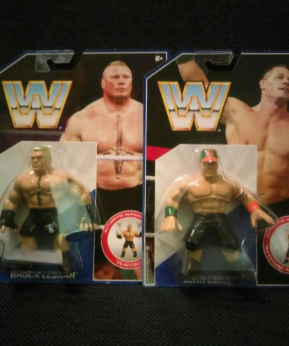 WWE Mattel BROCK LESNAR & JOHN CENA Lot of 2 MOC 2016