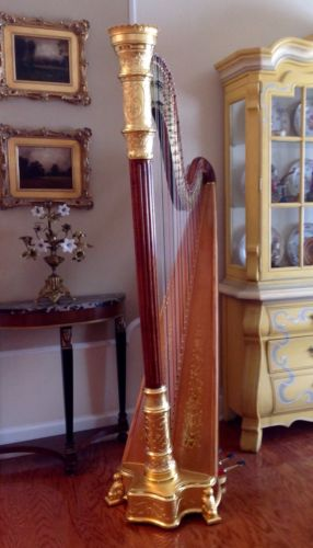 Lyon and Healy Style 15 Pedal Harp, Fully Restored