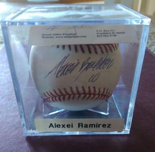 Alexei Ramirez signed/autographed baseball c.o.a. Chicago White Sox