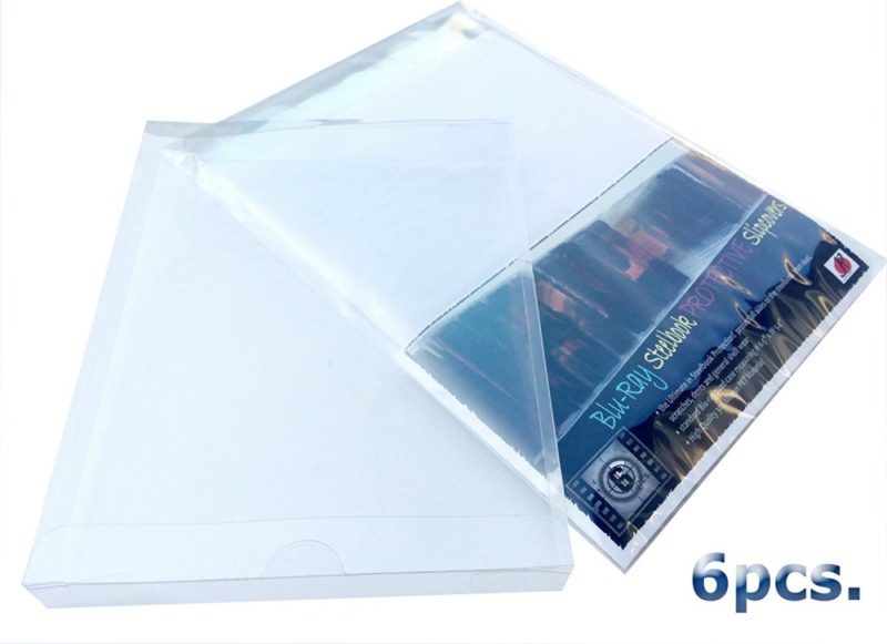 P&F Blu-ray Steelbook Jewel Plastic Sleeves Cases- HD DVD and Bluray Protective