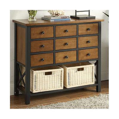 ACME Furniture Fidella Oak 11 Drawer Accent Chest