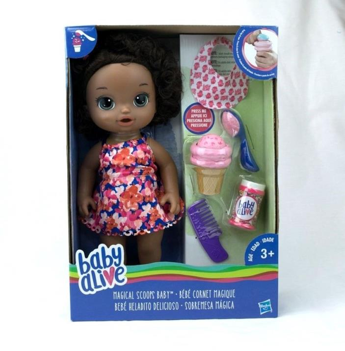 Hasbro Baby Alive Magical Scoops African American Baby Doll NEW