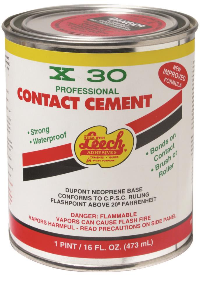 LEECH PRODUCTS X30-77 PRO CONTACT CEMENT PT