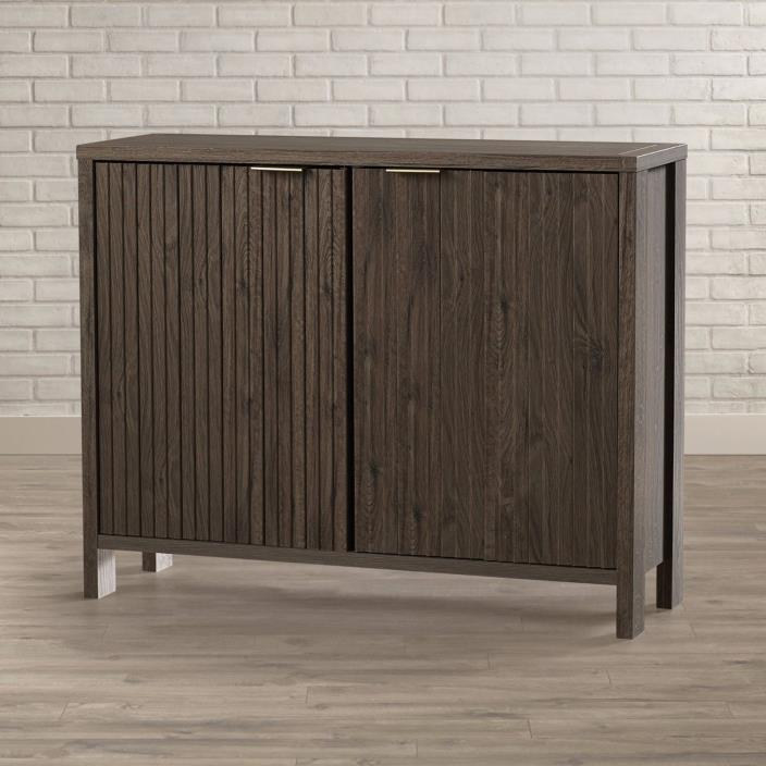 Contemporary Kitchen Sideboard 2 Door Cabinet Fossil Oak Storage Buffet New