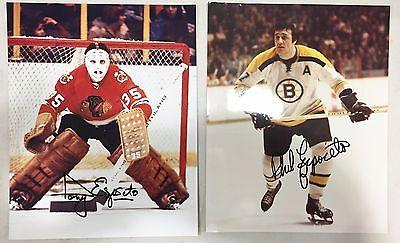 Phil Esposito & Tony Esposito Autographed Signed  8 x 10 Photo's NHL Legends COA