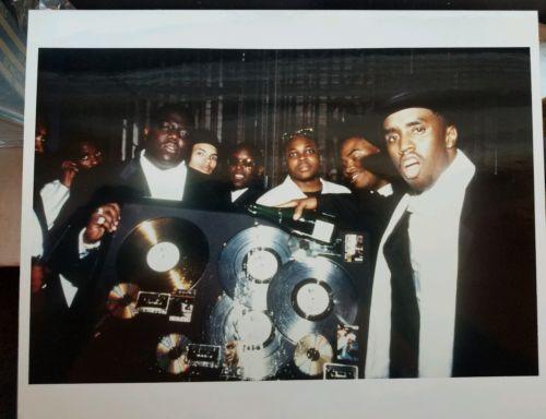 Bad Boy, Biggie, P Diddy  8'10 photo very rare hip hop image of platinum party