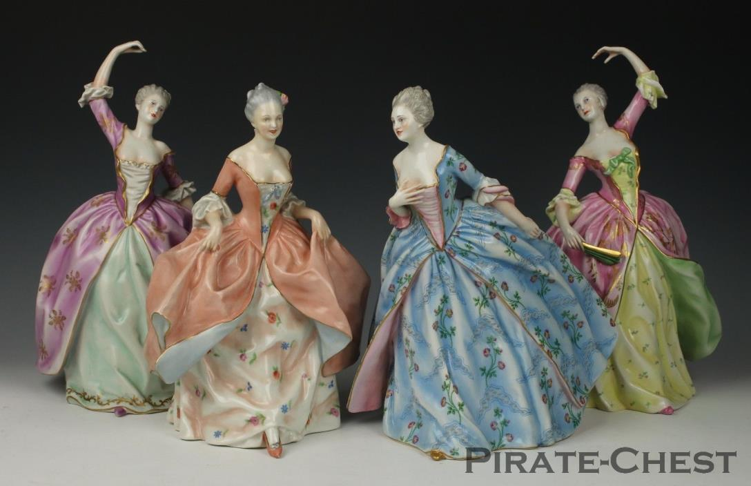 Amazing antique Capodimonte Ginori set of 4 figurines