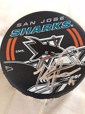Mike Ricci Signed San Jose Sharks Hockey Puck Autographed