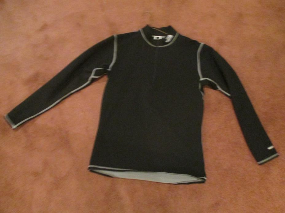 The North Face Men's 1/4 Zip Pullover Black Fleece Jacket Flight Series XL