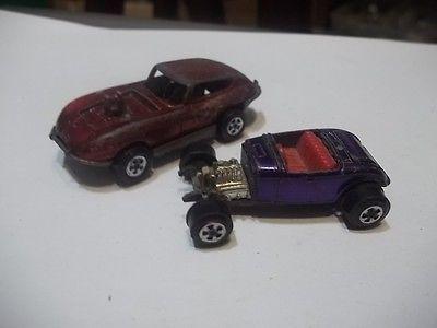 Topper Johnny Lightning Diecast 2 car lot Play wear