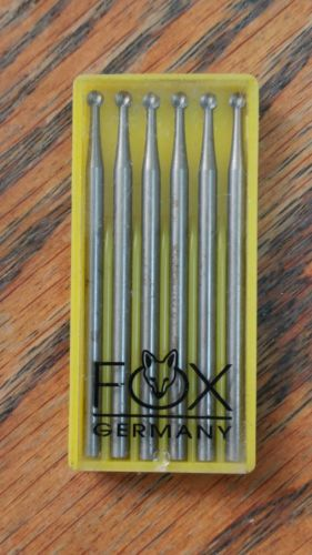 fox round bur made in Germany size 023 1 box Brand New
