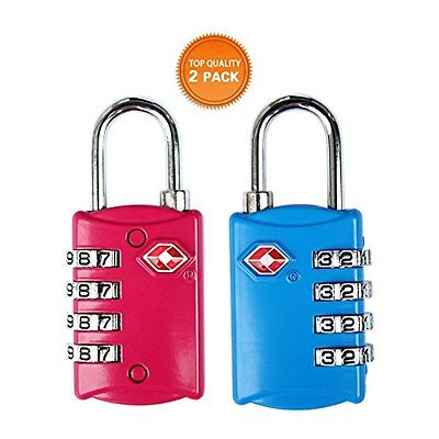 TSA Approved Luggage Locks4 Digit Combinationtheft Protection on Our Durable 2