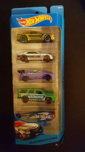 Hot Wheels - Police Pursuit 5 pack HONDA CIVIC Si mustang CAMARO Chevy Tahoe