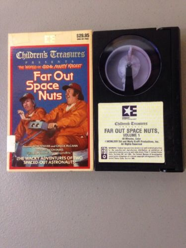 Rare! The World Of Sid & Marty Krofft Far Out Space Nuts Beta Tape Betamax! OOP