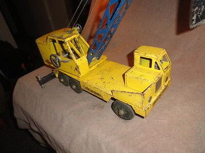 Vintage Ny-Lint Toys T-24 Michigan Crane Clark Equipment Steel Truck