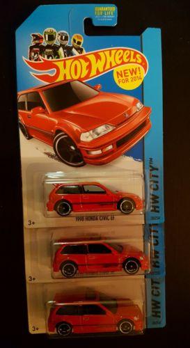 Hot Wheels 1990 HONDA CIVIC EF lot