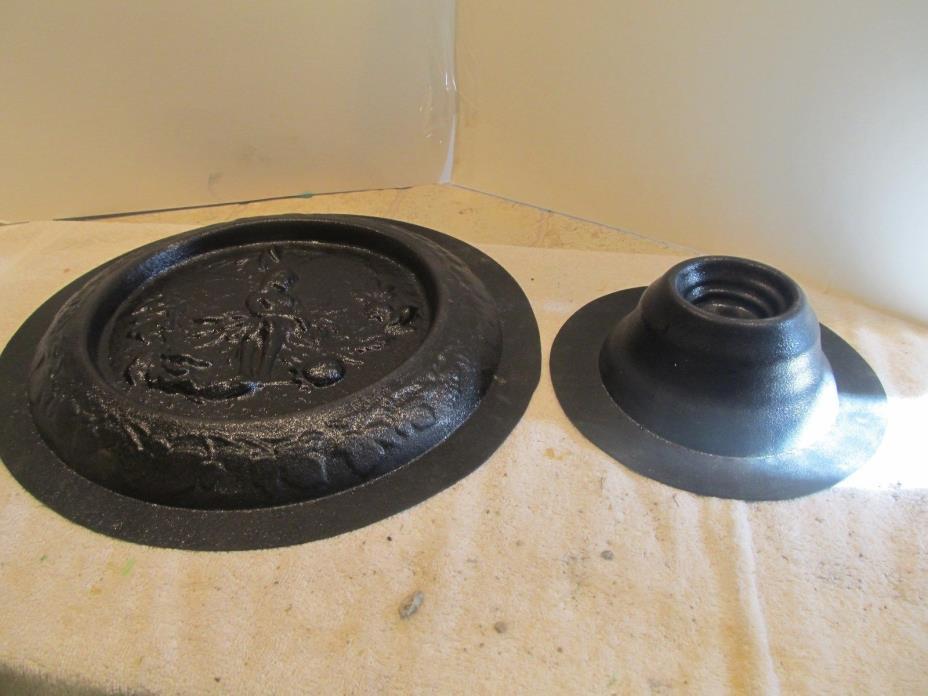 used concrete mold bird bath